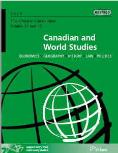 Canadian and World Studies - Grade 11 and 12