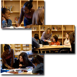 Collage of Students learning