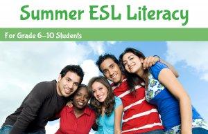 Summer ESL LIteracy program banner - link to Summer ESL Literacy program page