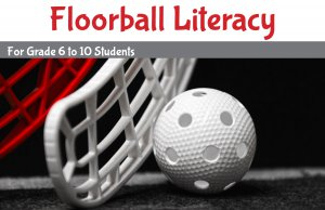 Floorball & Literacy program banner - link to Floorball and Literacy summer program page