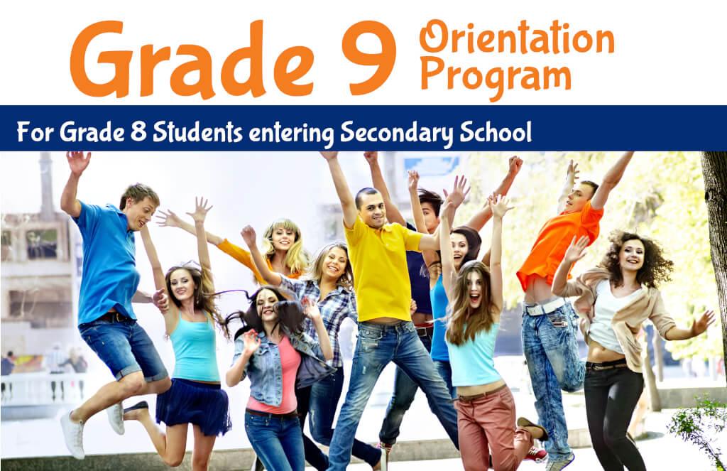 Grade 9 Orientation Program page banner