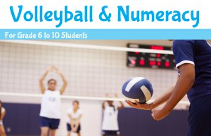 Volleyball and Numeracy banner - link to Volleyball and Numeracy summer program page.