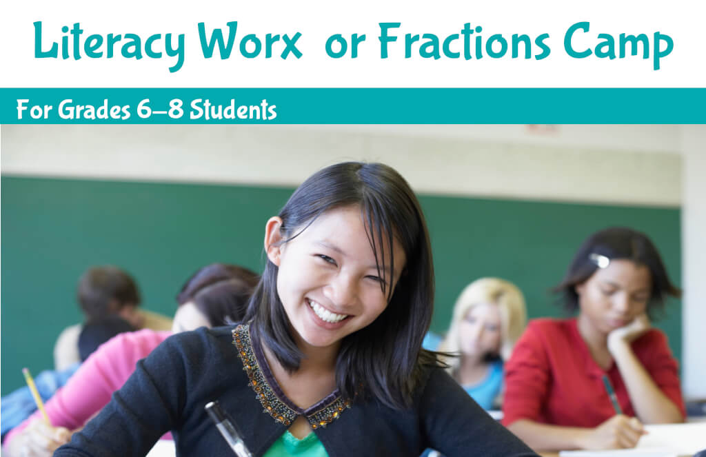 Fractions Camp summer program banner