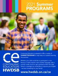 CE 2021 Summer Programs Flyer cover image