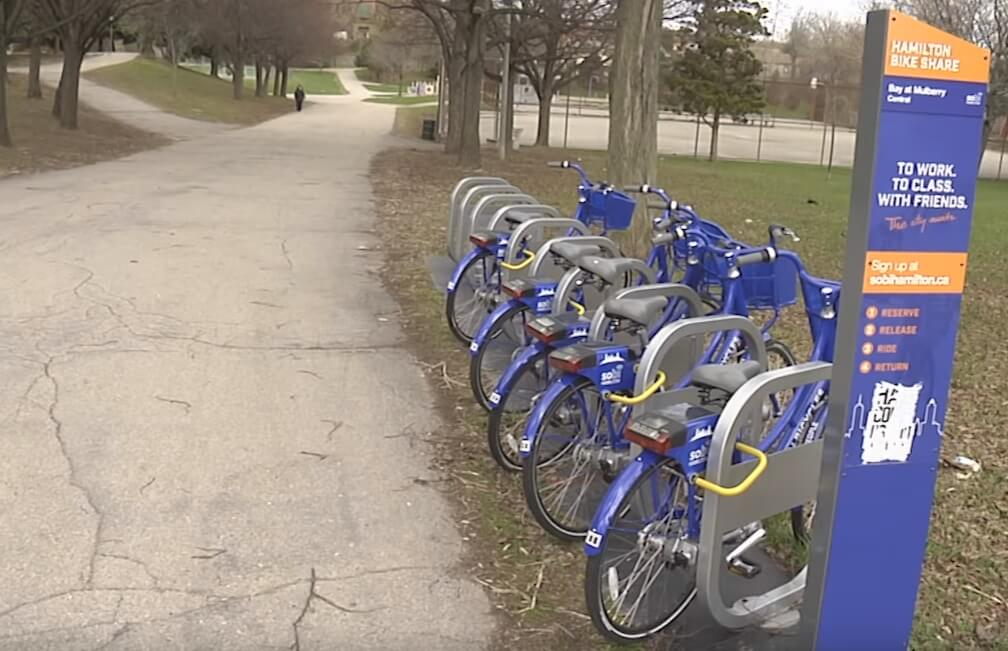 Bike Share in a park