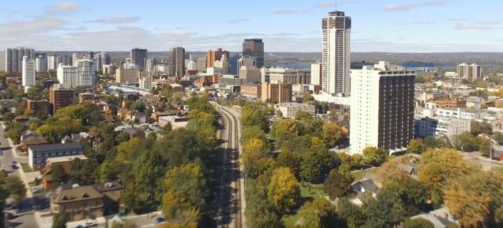 City of Hamilton from above