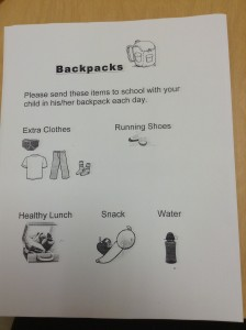 What to bring in a backpack