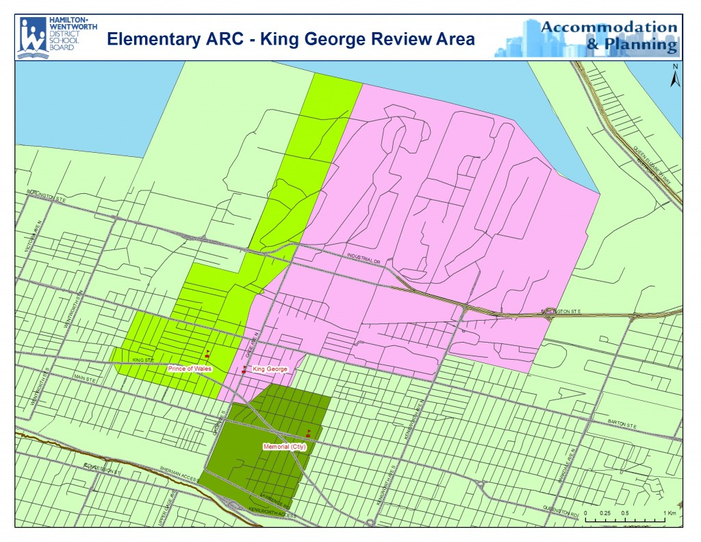 King George Review Area Map