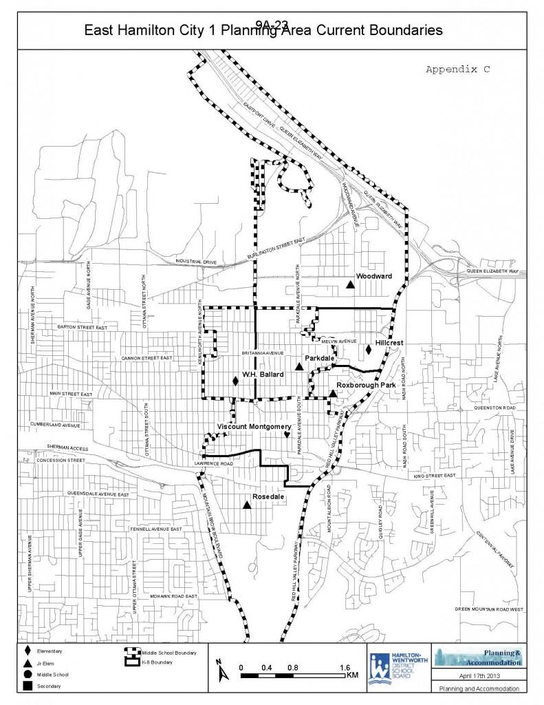 East Hamilton Map - Review Current Boundaries