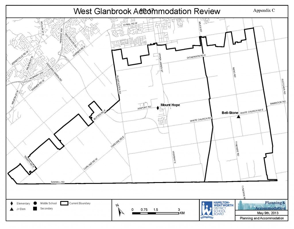 West Glanbrook Map - Review Current Boundaries