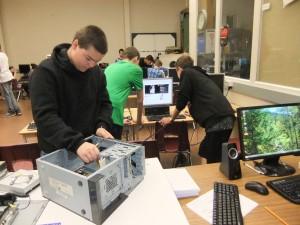 Computer repair classroom