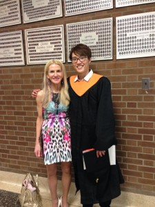 Miss Rado with one of our successful graduates, Henry!