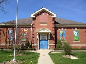 Exterior of the school