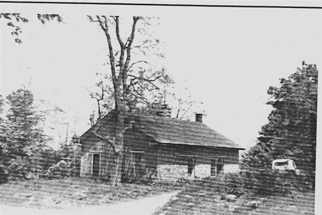 One room school house that as demolished in 1974