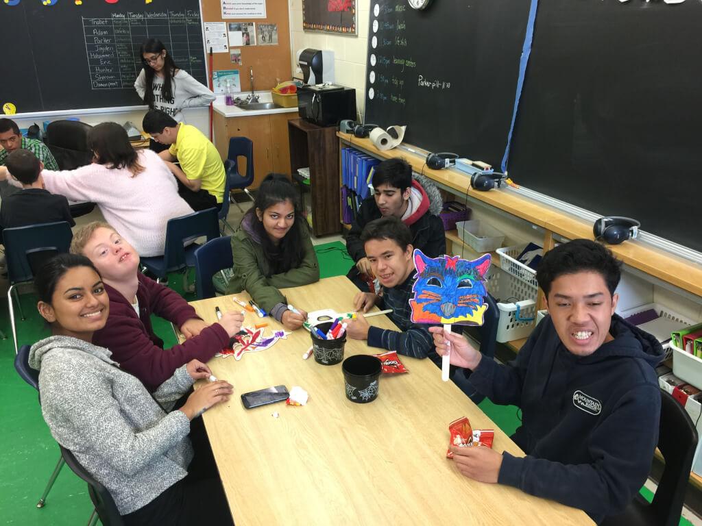 Students looking at the camera