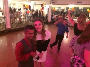 Two kids on the dance floor