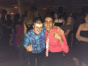 Two boys at the dance