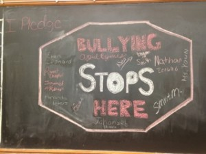 Bullying stops here on chalk