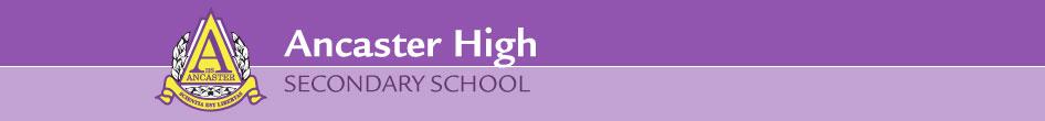 Ancaster High Secondary school banner