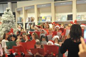 Kids at Indigo Store singing
