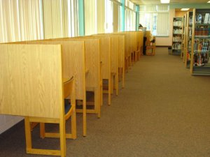 Desks in the library