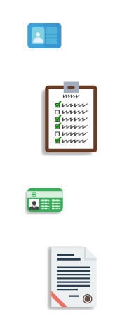Clip art of cards and clip board