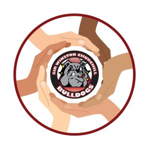 Bulldogs logo with hands on it