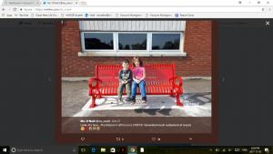Kids sitting on a buddy bench