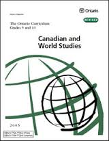 Canadian and World Studies - Grade 9 and 10