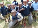 Students at Chaka Reli school in Kenya play.