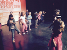 Sir Wilfrid Laurier's Grade2/3 students perform swing-style dance.