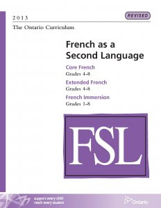 French as a Second Language Grades 1 to 8 Curriculum