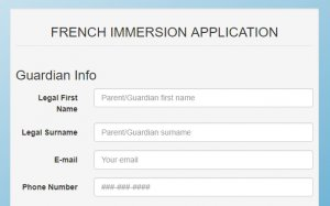 Click here to fill out the French Immersion Application Form,.