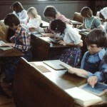 Several grades are taught in this one classroom