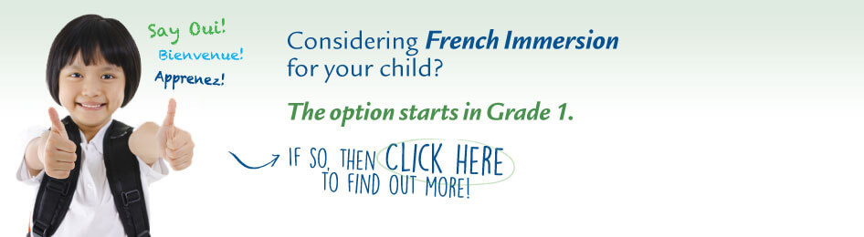 French Immersion Banner