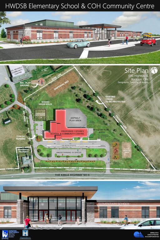 Site and Floor Plan for new Elementary School | Hamilton ...