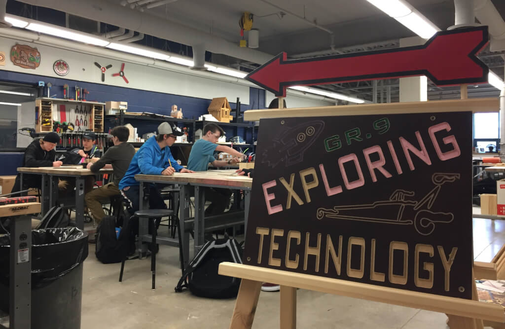 Grade 9 Tech students get a shop of their own at WDHS