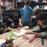 students work on boomerang