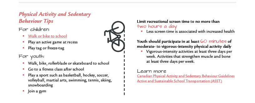 Physical Activity and Sedentary Behavior Tips