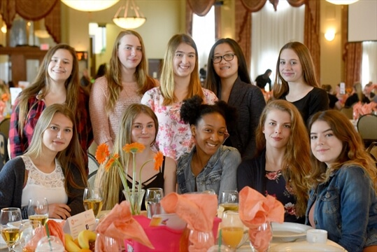 HWDSB Young Women at the Totally Awesome Young Women