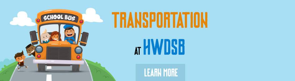 Transportation at HWDSB banner