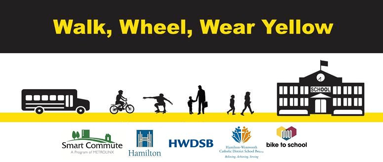 Walk, Wheel and Wear Yellow on October 4