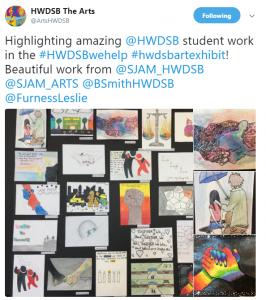 HWDSB Arts tweet