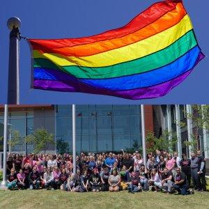 pride flag raising event