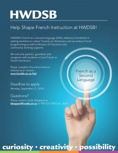 French as a Second Language Advisory Committee Flyer