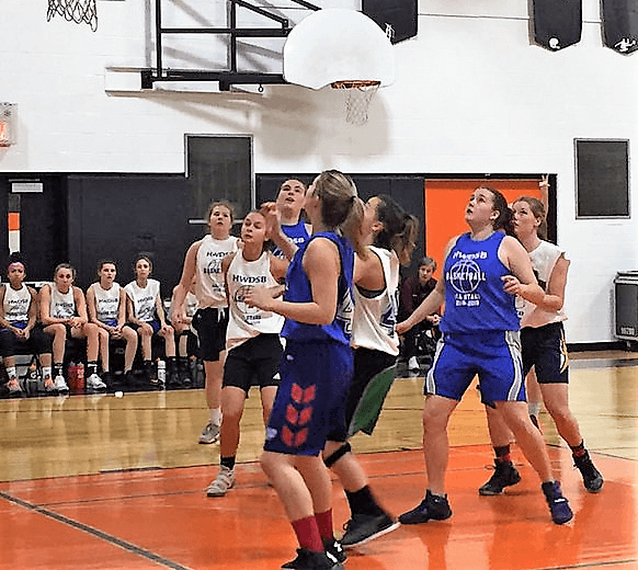 Game Action as Team Mohawk tops Team McMaster for bragging rights at HWDSB girls basketball all-star classic