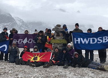 HWDSB Students in the Arctic