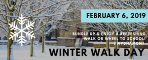 winter walk to school flyer