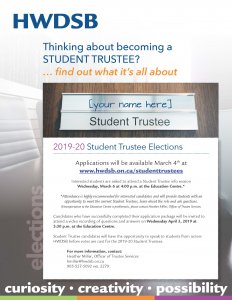 Student Trustee Election 2019-20