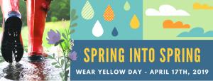 spring into spring banner